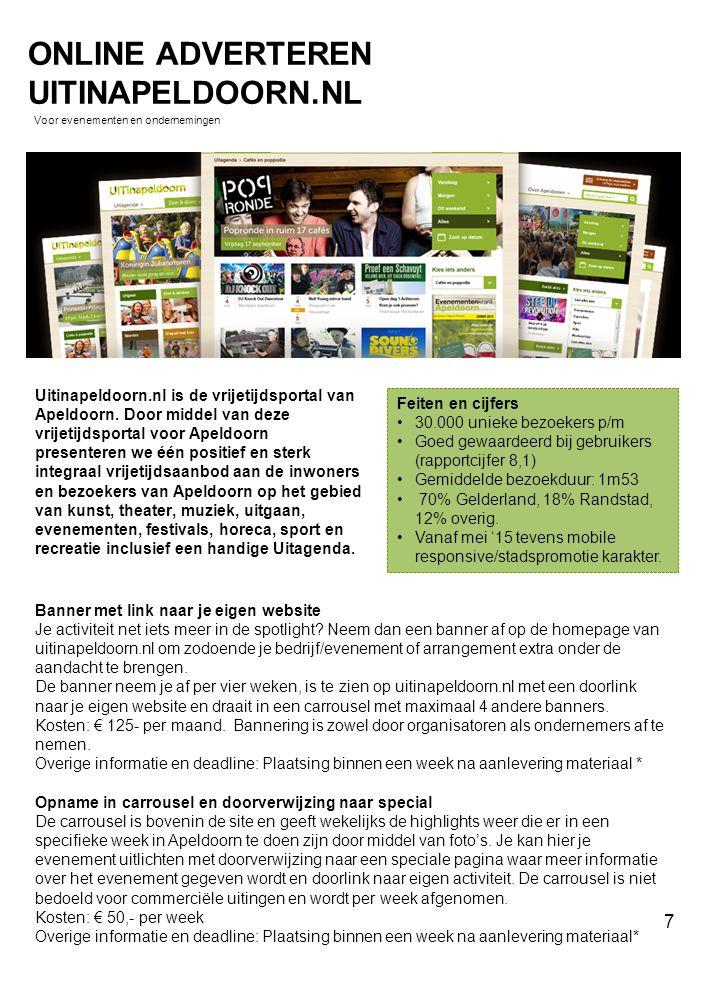 Uitinapeldoorn.nl is de vrijetijdsportal van Apeldoorn. Door middel van deze vrijetijdsportal voor Apeldoorn presenteren we één positief en sterk inte