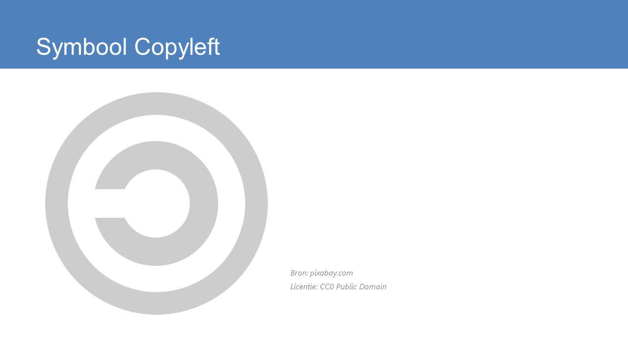 Symbool Copyleft Bron: pixabay.com Licentie: CC0 Public Domain