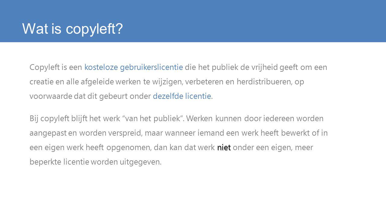 Wat is copyleft.