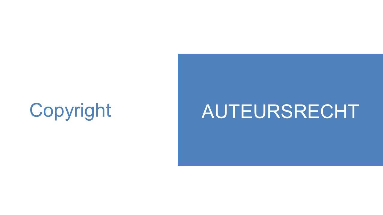 Copyright AUTEURSRECHT