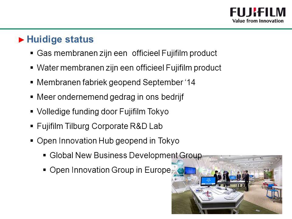 Gas membranen zijn een officieel Fujifilm product  Water membranen zijn een officieel Fujifilm product  Membranen fabriek geopend September '14 
