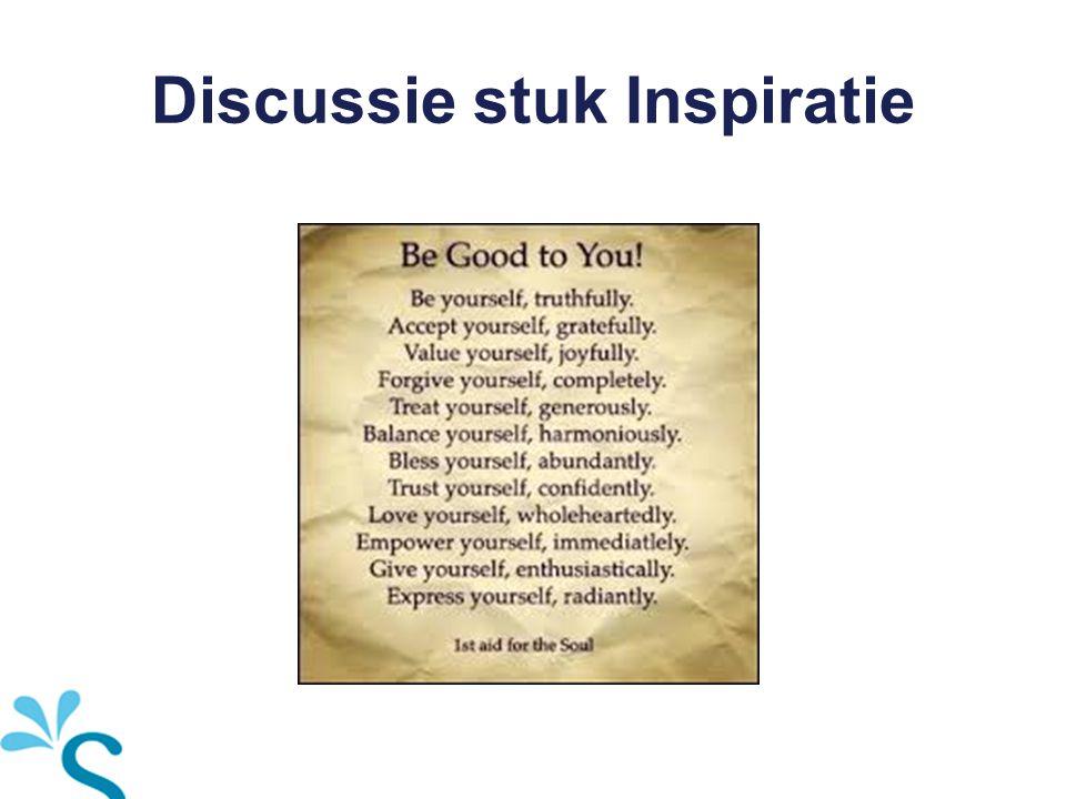 Discussie stuk Inspiratie