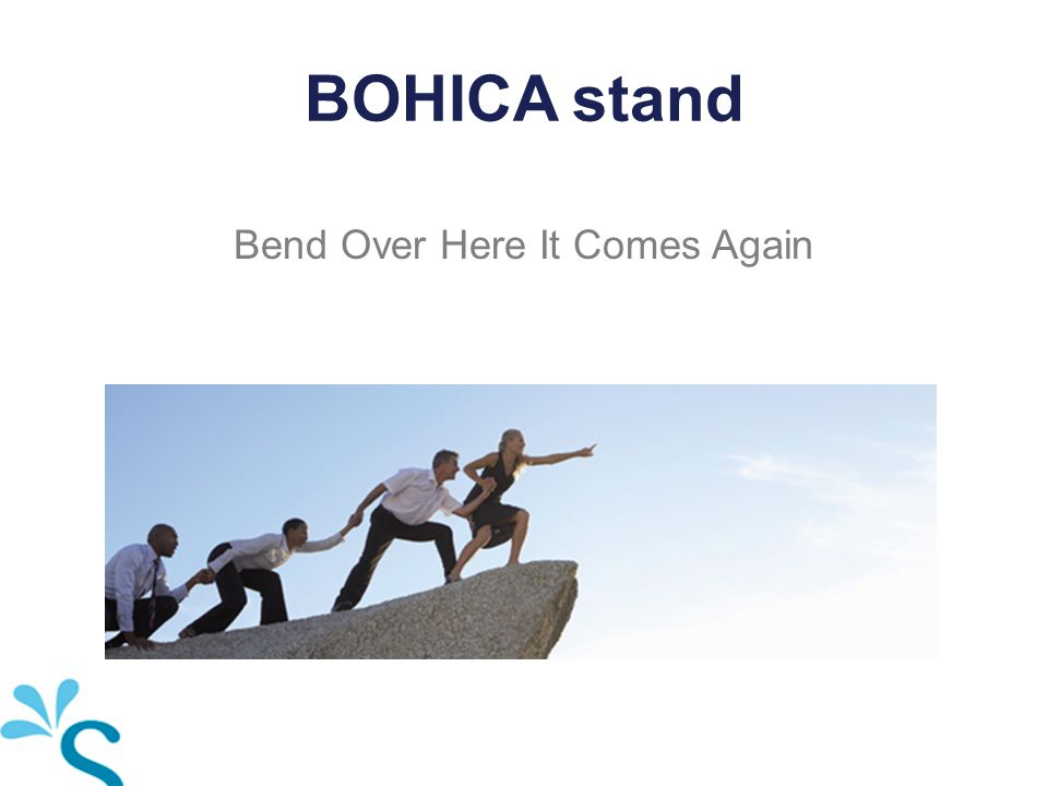 BOHICA stand Bend Over Here It Comes Again