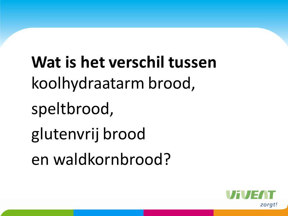 Wat is het verschil tussen koolhydraatarm brood, speltbrood, glutenvrij brood en waldkornbrood?