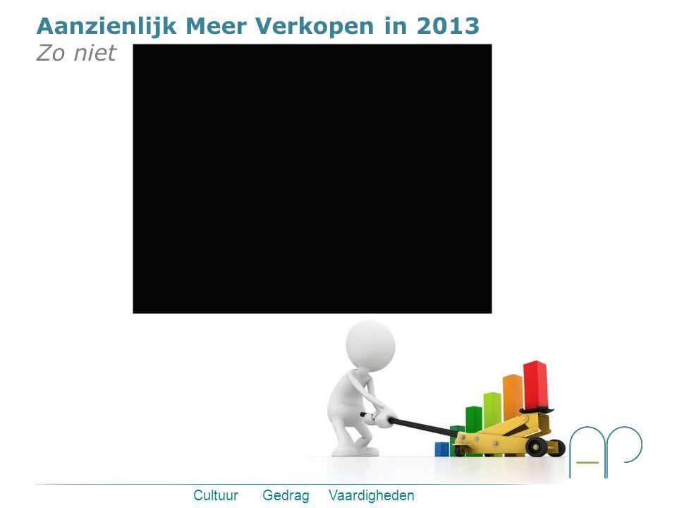 Cultuur Gedrag Vaardigheden Aanzienlijk Meer Verkopen in 2013 Zo niet
