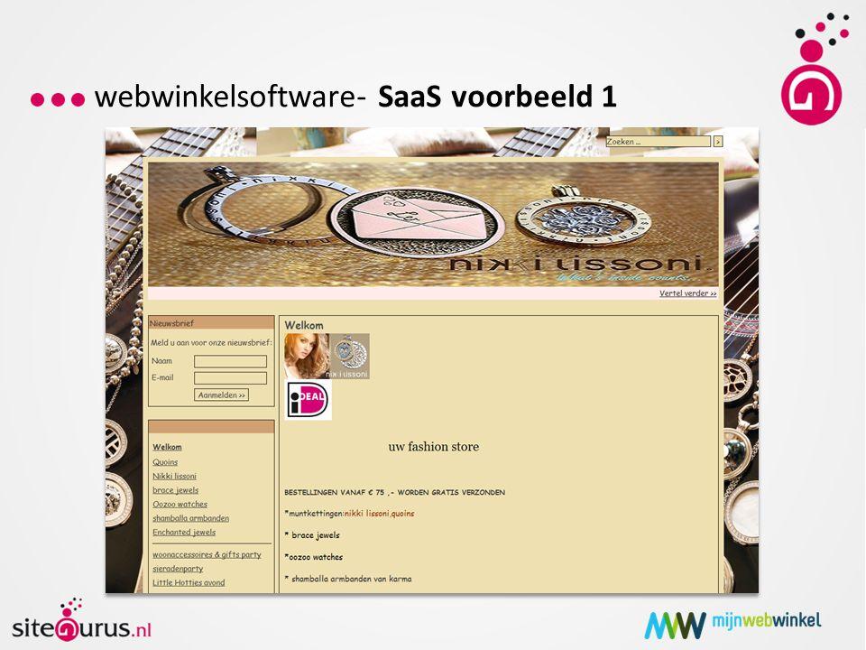 webwinkelsoftware- SaaS voorbeeld 1