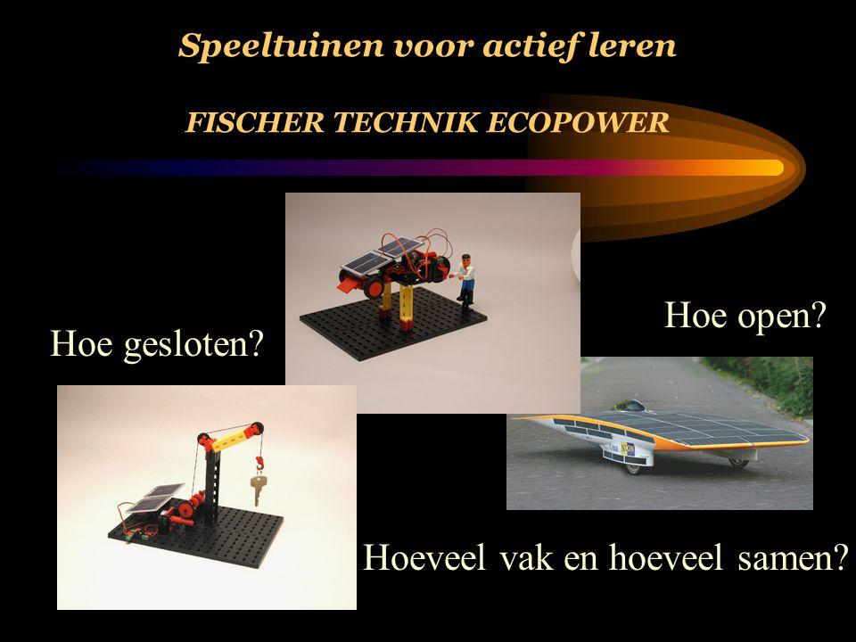 Speeltuinen voor actief leren FISCHER TECHNIK ECOPOWER Hoe open.