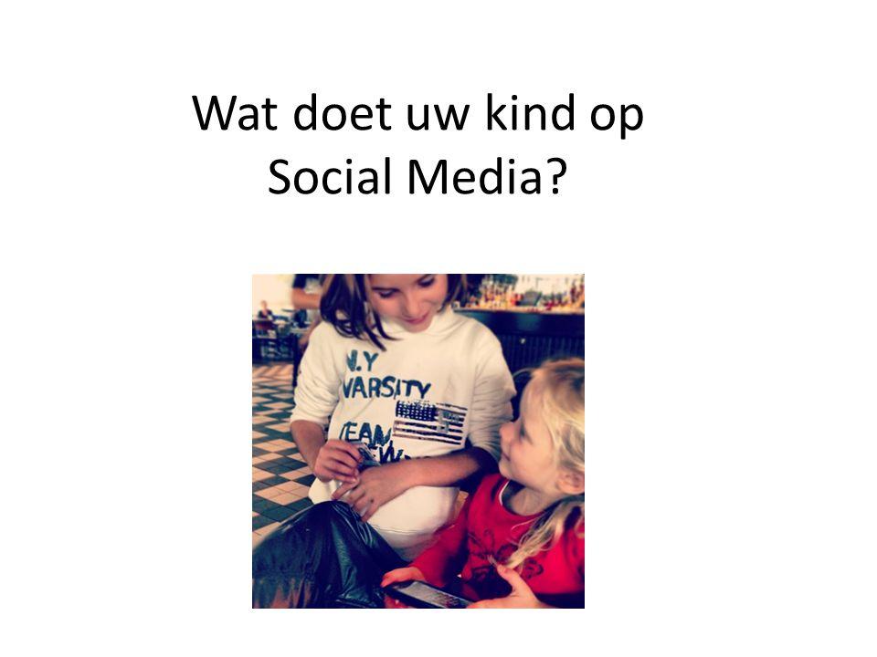 Wat doet uw kind op Social Media? Foto