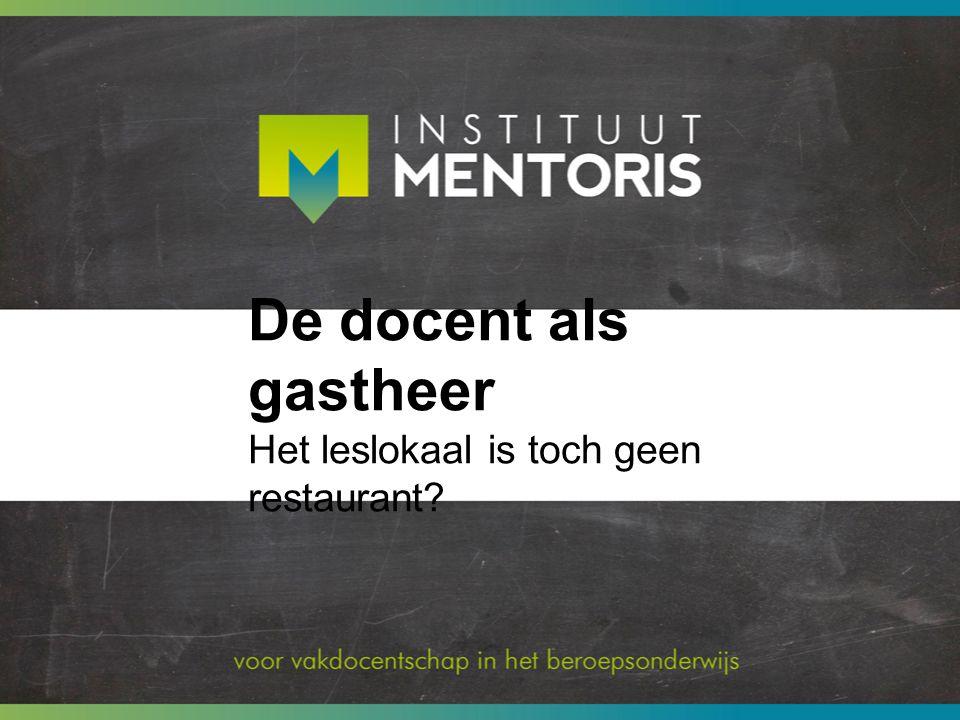 De les starten De rol van Gastheer vervul je aan het begin van de les.