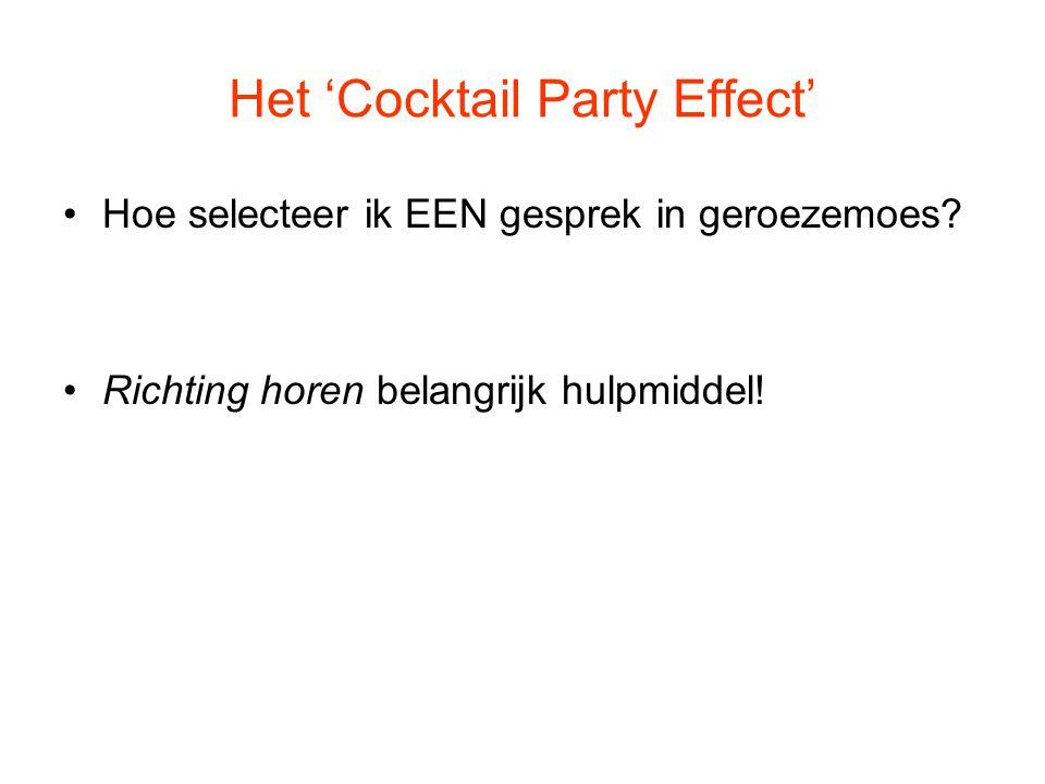 Het 'Cocktail Party Effect' Hoe selecteer ik EEN gesprek in geroezemoes? Richting horen belangrijk hulpmiddel!