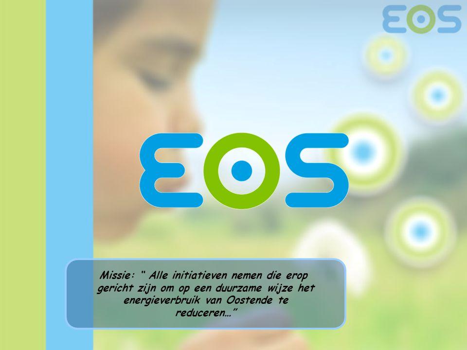 """Missie: """" Alle initiatieven nemen die erop gericht zijn om op een duurzame wijze het energieverbruik van Oostende te reduceren…"""""""