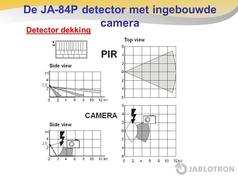 Detector dekking De JA-84P detector met ingebouwde camera