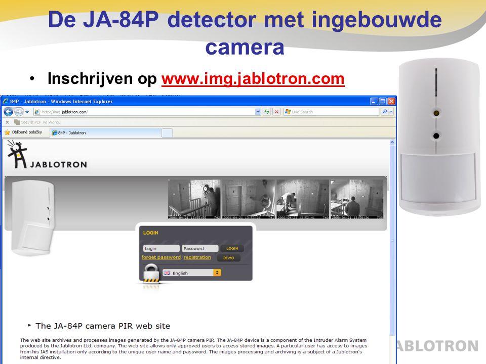 Inschrijven op www.img.jablotron.com De JA-84P detector met ingebouwde camera