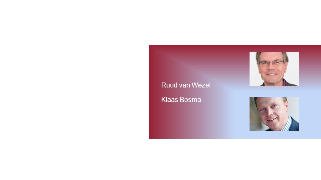 Ruud van Wezel Klaas Bosma