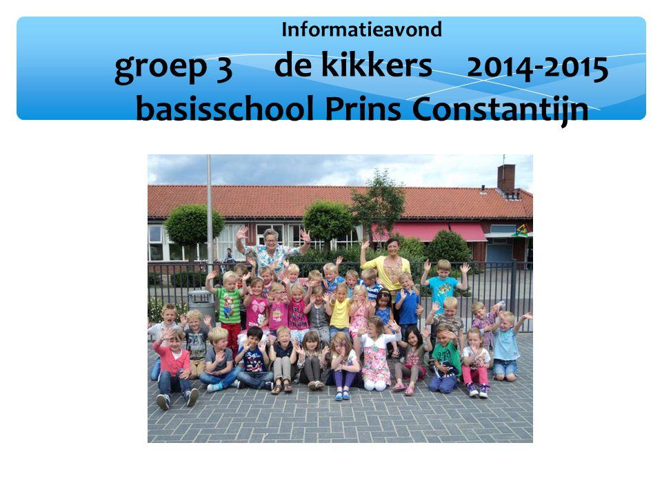 Informatieavond groep 3 de kikkers 2014-2015 basisschool Prins Constantijn Foto klas 2013-2014