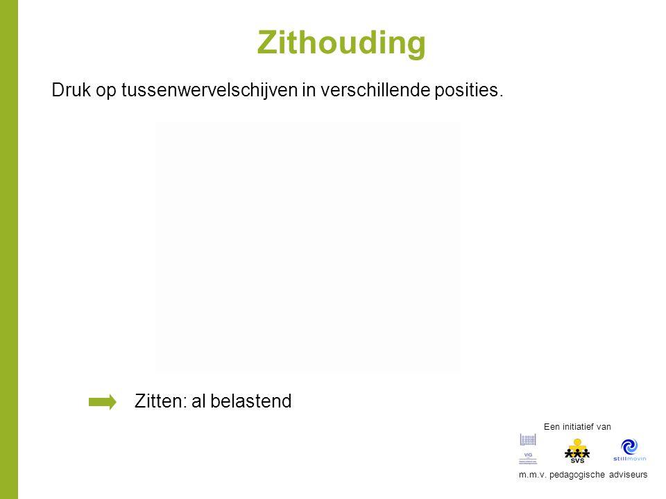 Zithouding Zitten: al belastend Druk op tussenwervelschijven in verschillende posities. Een initiatief van m.m.v. pedagogische adviseurs