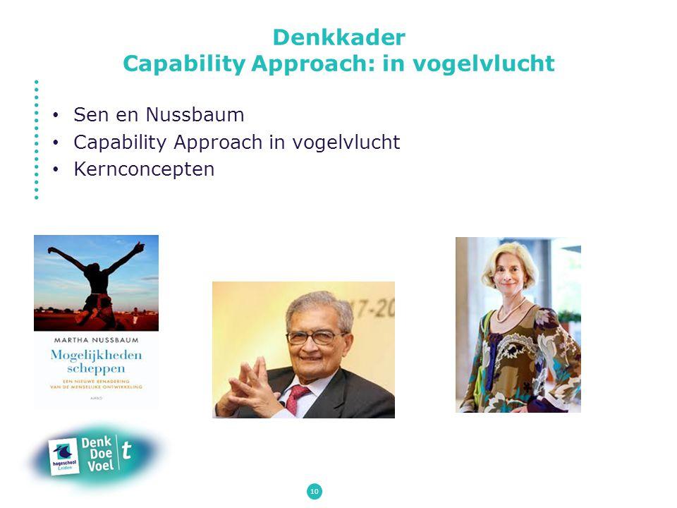 10 Sen en Nussbaum Capability Approach in vogelvlucht Kernconcepten Denkkader Capability Approach: in vogelvlucht