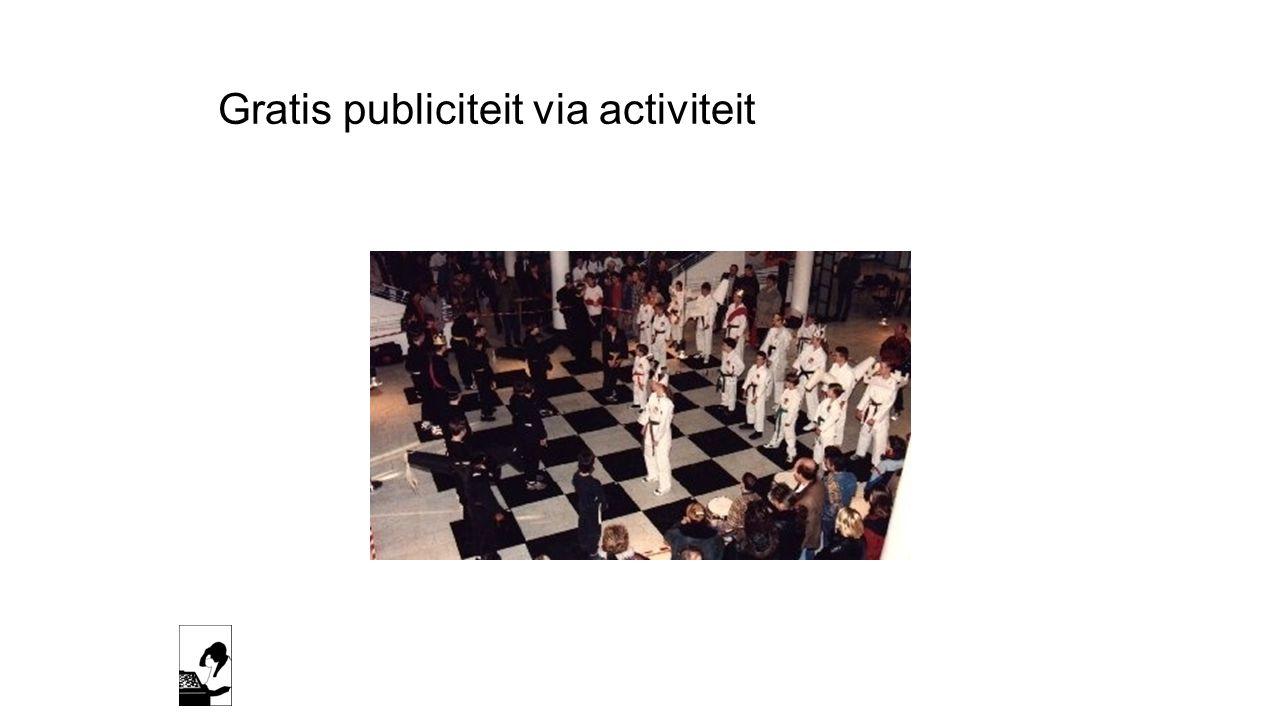 Gratis publiciteit via activiteit