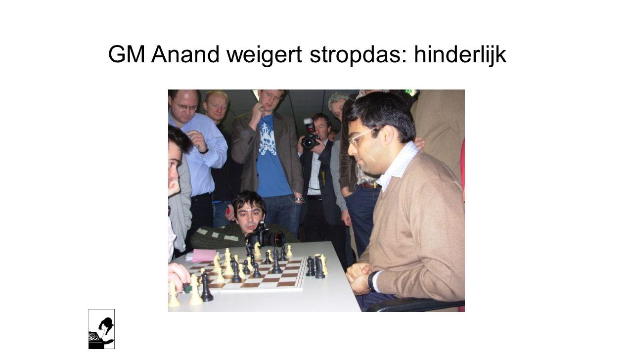 GM Anand weigert stropdas: hinderlijk