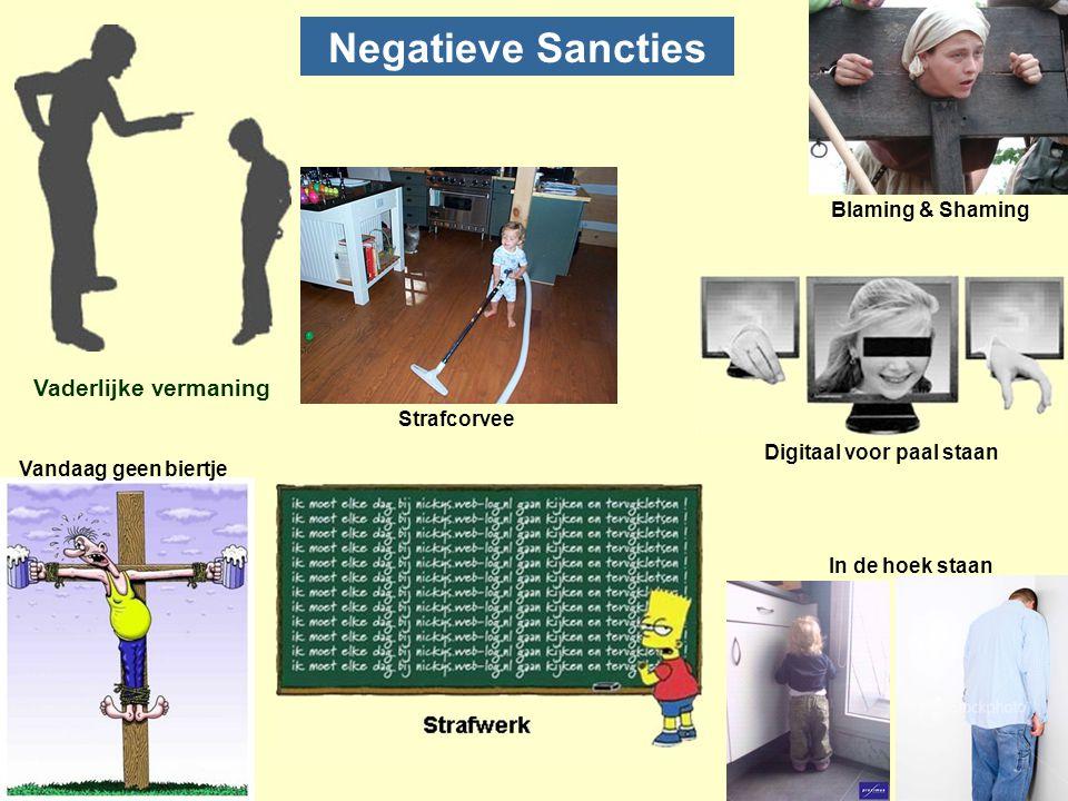 Negatieve Sancties In de hoek staan Blaming & Shaming Vandaag geen biertje Digitaal voor paal staan Strafcorvee Vaderlijke vermaning