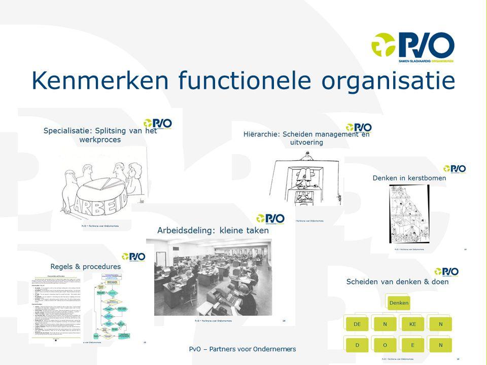 PvO – Partners voor Ondernemers 11 PvO – Partners voor Ondernemers 11 Kenmerken functionele organisatie