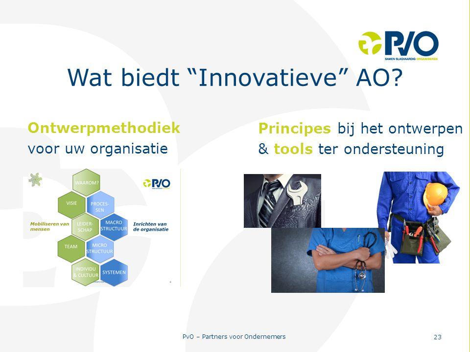 """PvO – Partners voor Ondernemers 23 Wat biedt """"Innovatieve"""" AO? Principes bij het ontwerpen & tools ter ondersteuning Ontwerpmethodiek voor uw organisa"""