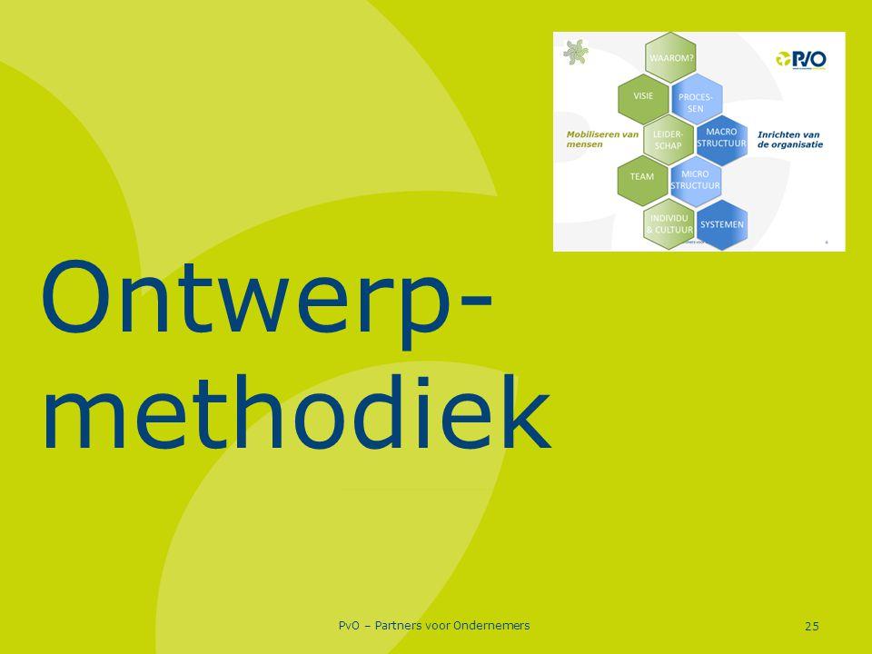 PvO – Partners voor Ondernemers 25 Ontwerp- methodiek