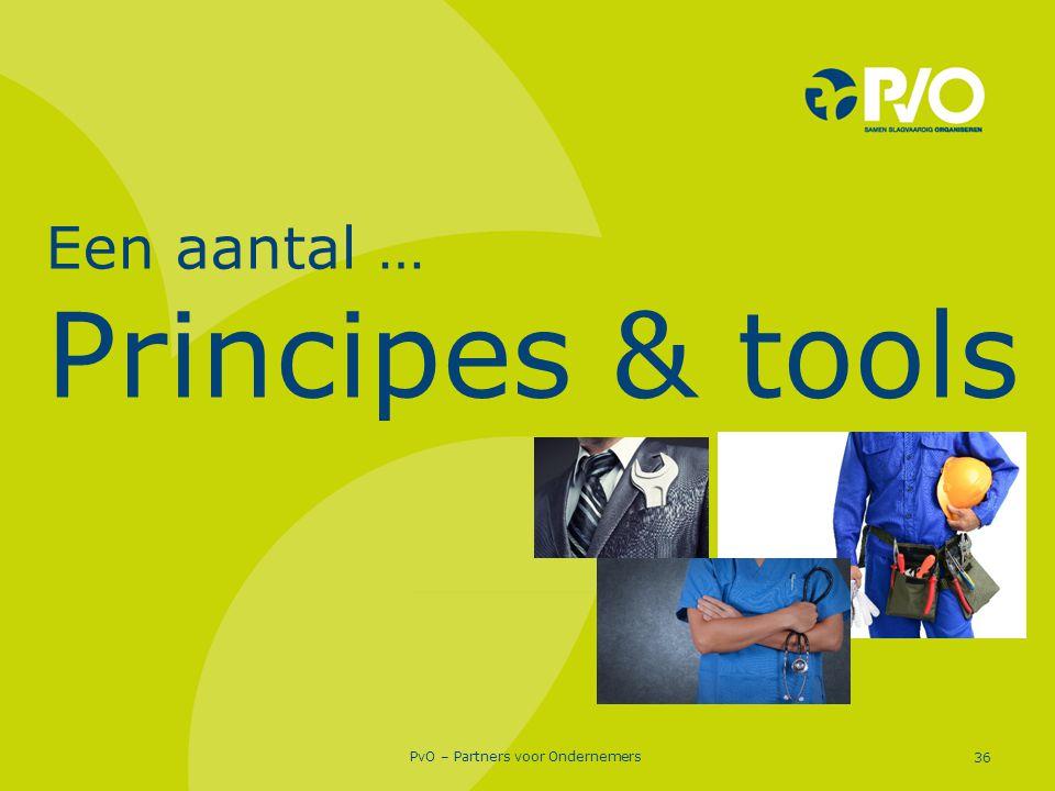 PvO – Partners voor Ondernemers 36 Een aantal … Principes & tools