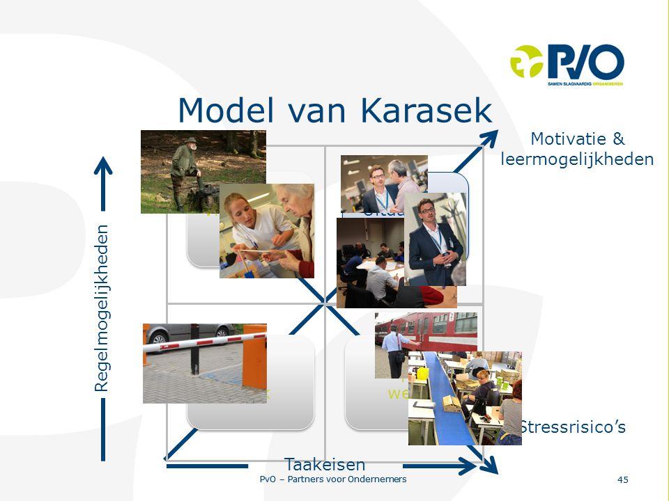 PvO – Partners voor Ondernemers 45 PvO – Partners voor Ondernemers 45 Regelmogelijkheden Taakeisen Vrijblijvend werk Vrijblijvend werk Saai werk Saai