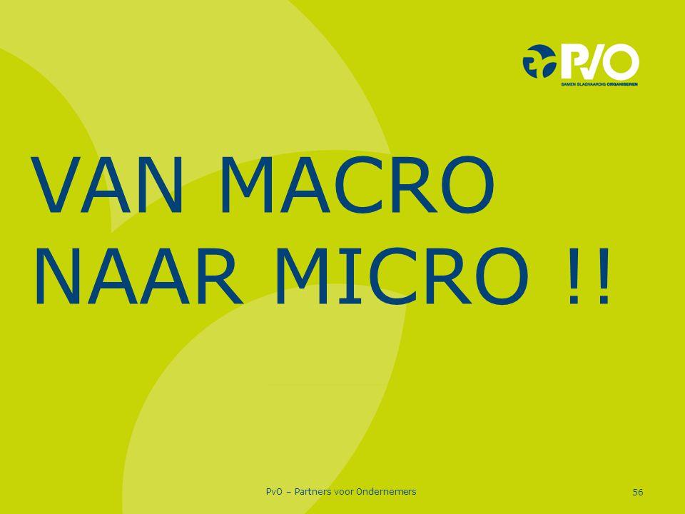 PvO – Partners voor Ondernemers 56 VAN MACRO NAAR MICRO !!