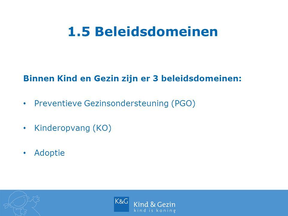 1.6 Kind en Gezin-Lijn Kind en Gezin-Lijn: 078 150 100 (nationaal tarief) elke werkdag tussen 8 en 20 uur Alle vragen over kinderopvang, opvoeding, gezondheid Maken of verzetten van afspraken op het consultatiebureau 8