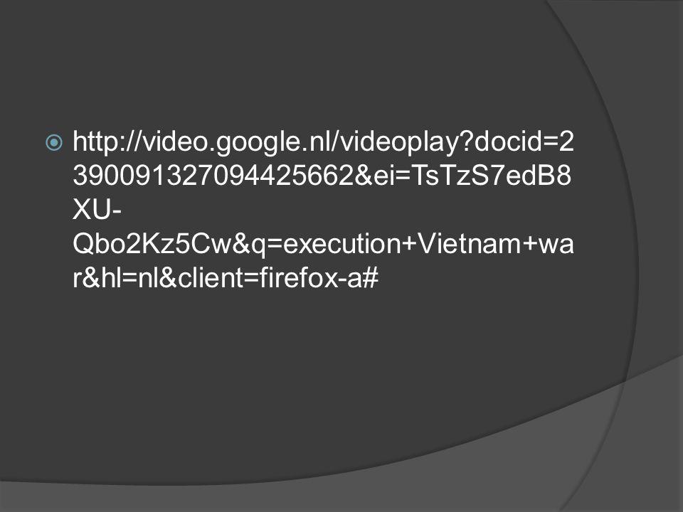  http://video.google.nl/videoplay?docid=2 390091327094425662&ei=TsTzS7edB8 XU- Qbo2Kz5Cw&q=execution+Vietnam+wa r&hl=nl&client=firefox-a#
