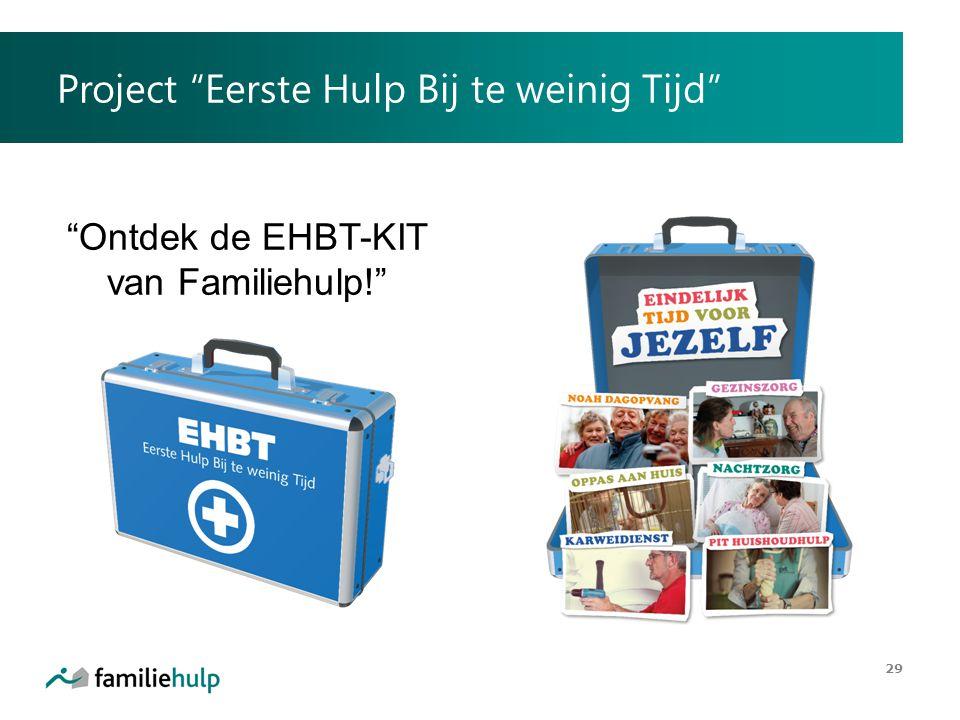 """Project """"Eerste Hulp Bij te weinig Tijd"""" 29 """"Ontdek de EHBT-KIT van Familiehulp!"""""""