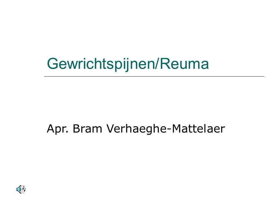 Behandeling ziekte v Bechterew  Medicatie met o.a.