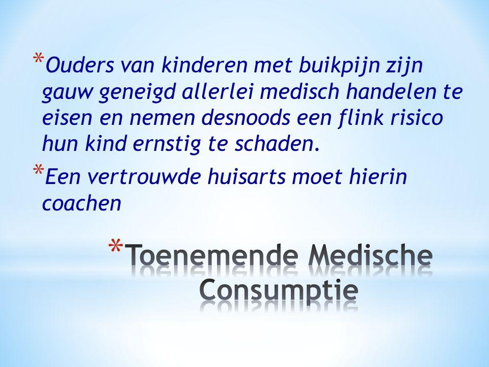 * Ouders van kinderen met buikpijn zijn gauw geneigd allerlei medisch handelen te eisen en nemen desnoods een flink risico hun kind ernstig te schaden.