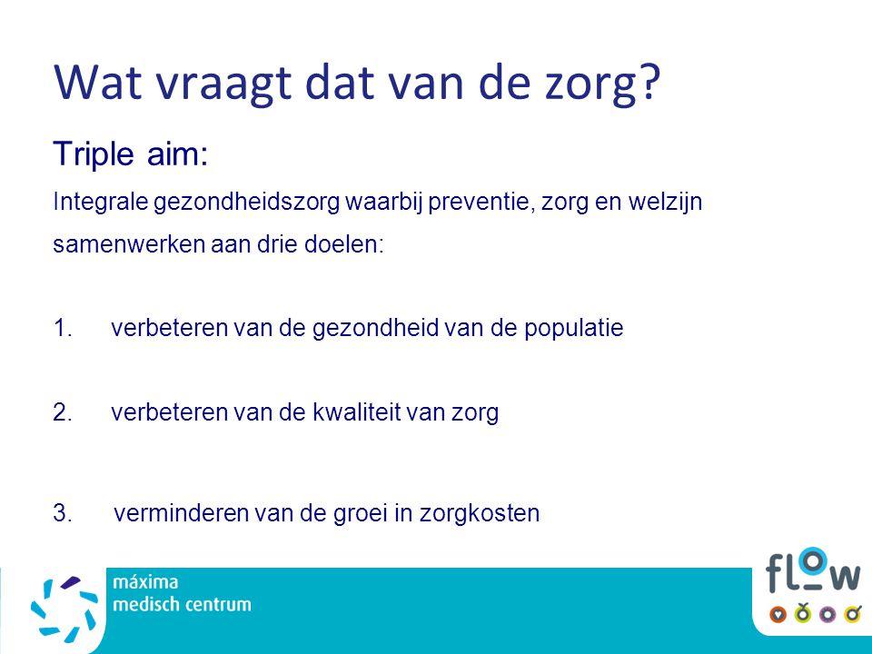 Samenwerken Preventie, welzijn & zorg: -GGD -Zorgaanbieders: o.a.