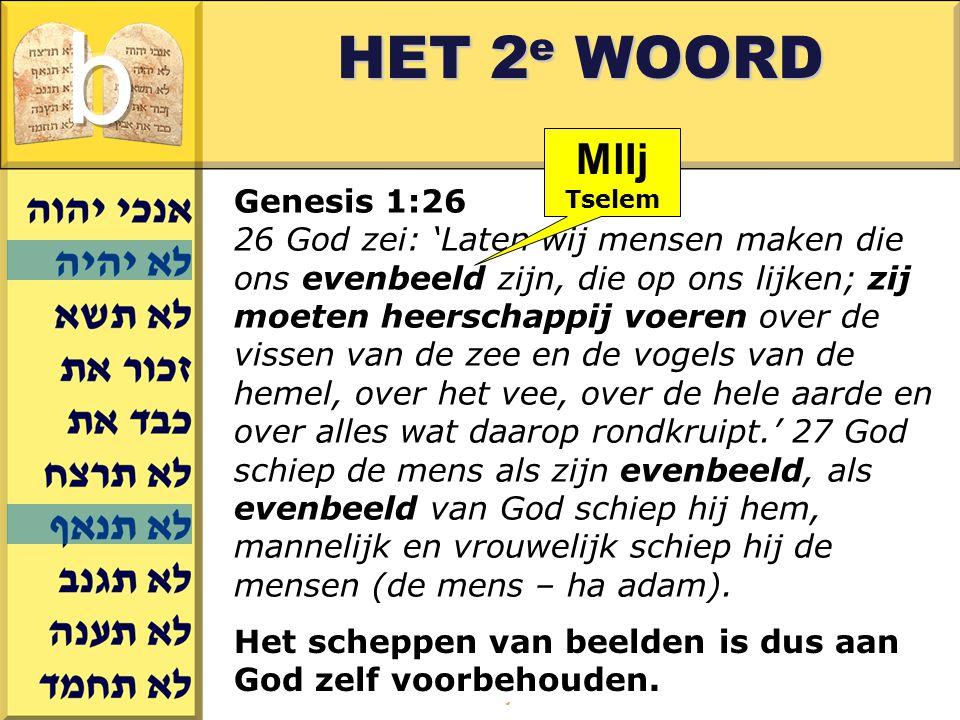 Gerard J.Wijtsma HET 2 e WOORD Genesis 1:26 26 God zei: 'Laten wij mensen maken die ons evenbeeld zijn, die op ons lijken; zij moeten heerschappij voe