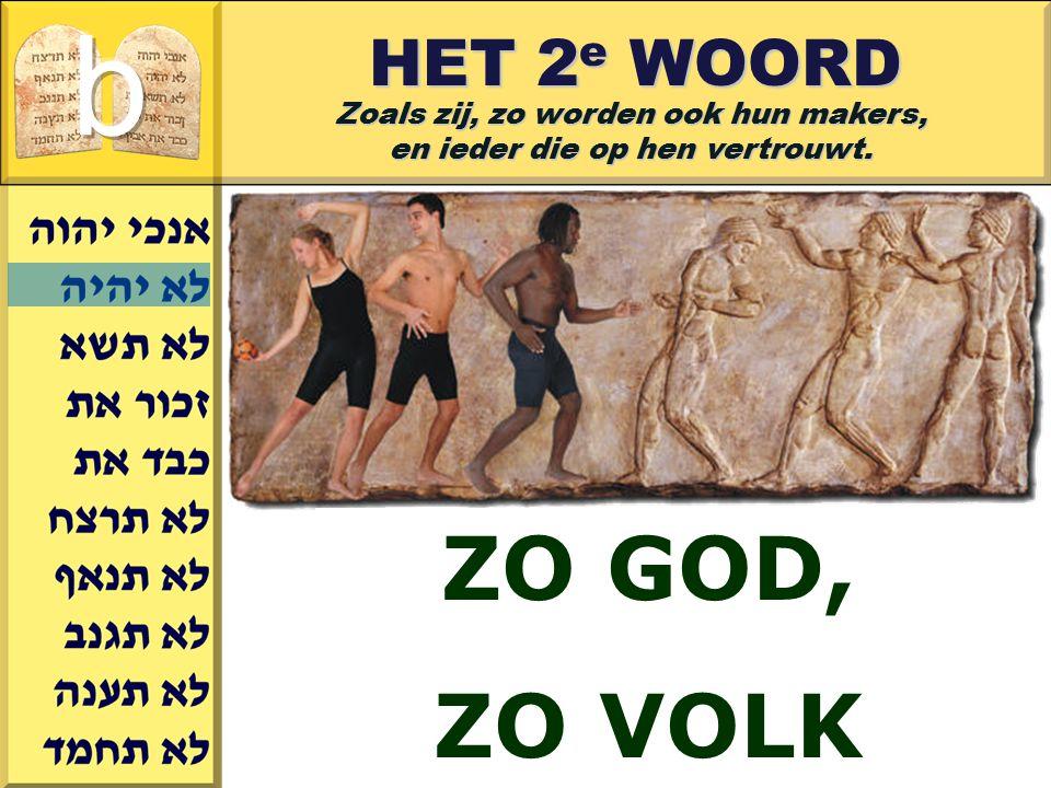 Gerard J.Wijtsma HET 2 e WOORD Zoals zij, zo worden ook hun makers, en ieder die op hen vertrouwt. ZO GOD, ZO VOLK
