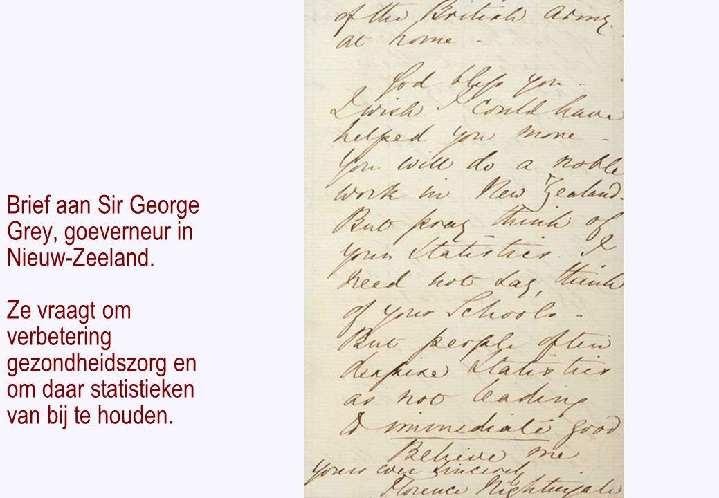 Brief aan Sir George Grey, goeverneur in Nieuw-Zeeland.