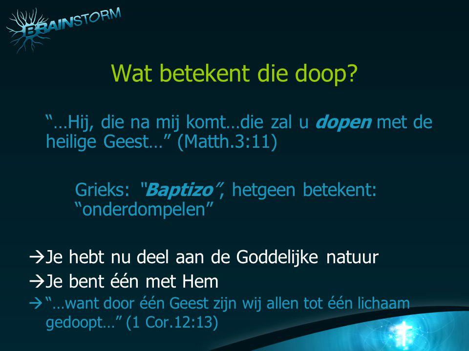 Wat betekent die doop.