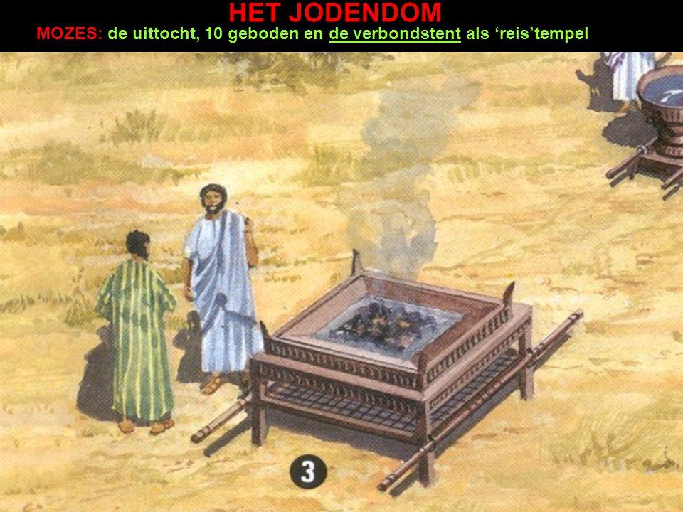 MOZES: de uittocht, 10 geboden en de verbondstent als 'reis'tempel HET JODENDOM