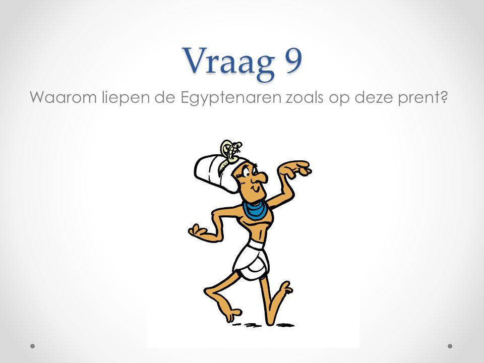 Vraag 9 Waarom liepen de Egyptenaren zoals op deze prent?
