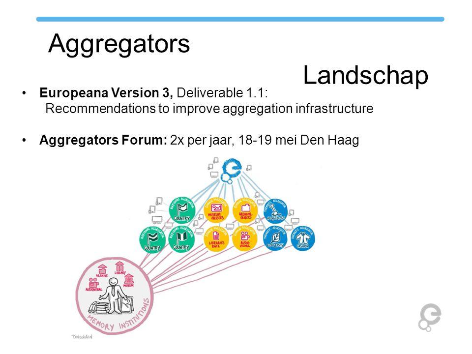 Aggregators Landschap Europeana Version 3, Deliverable 1.1: Recommendations to improve aggregation infrastructure Aggregators Forum: 2x per jaar, 18-1