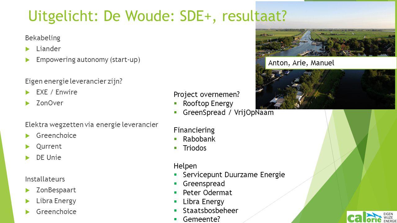Bekabeling  Liander  Empowering autonomy (start-up) Eigen energie leverancier zijn?  EXE / Enwire  ZonOver Elektra wegzetten via energie leveranci
