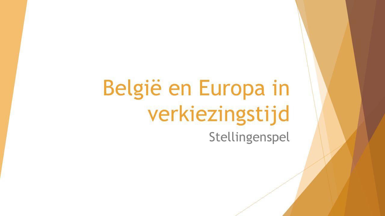 België en Europa in verkiezingstijd Stellingenspel