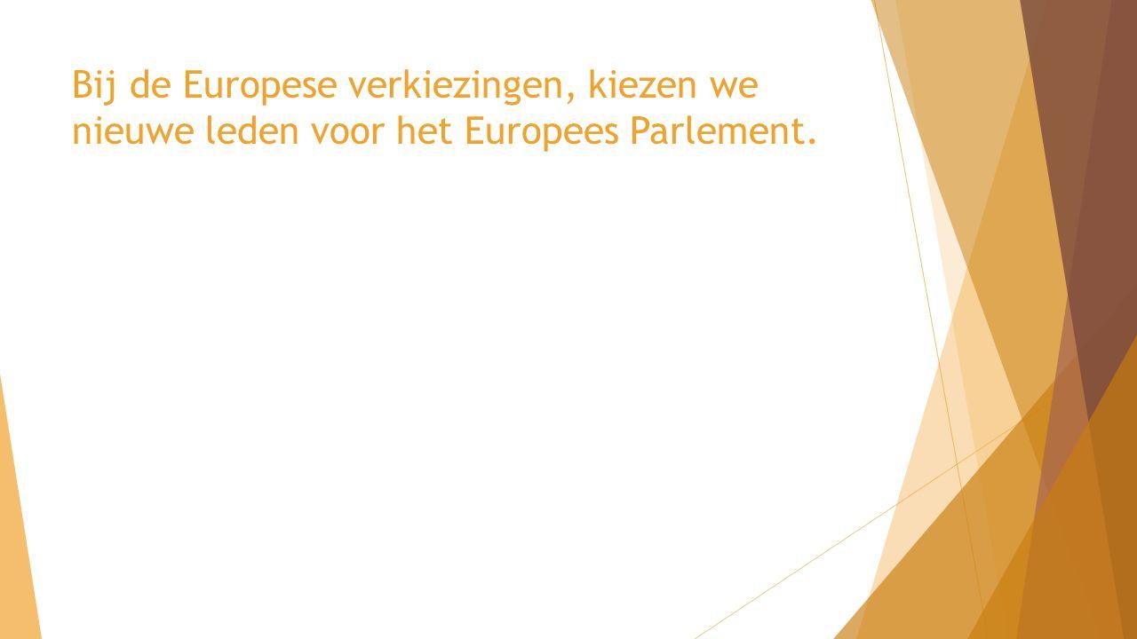Bij de Europese verkiezingen, kiezen we nieuwe leden voor het Europees Parlement.