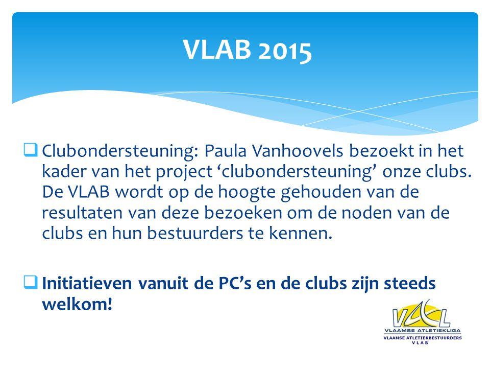  Clubondersteuning: Paula Vanhoovels bezoekt in het kader van het project 'clubondersteuning' onze clubs.