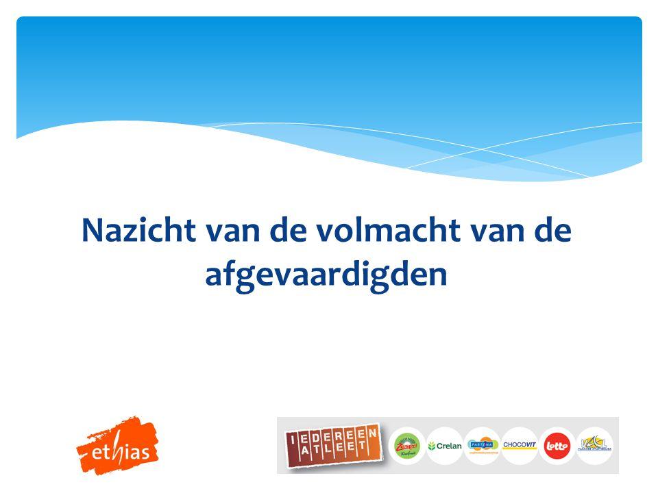Wijzigingen statuten en/of huishoudelijk reglement Eddy De Vogelaer HUISHOUDELIJK REGLEMENT