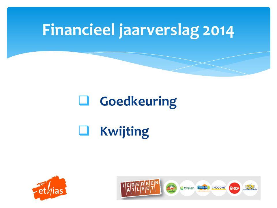 Goedkeuring  Kwijting Financieel jaarverslag 2014