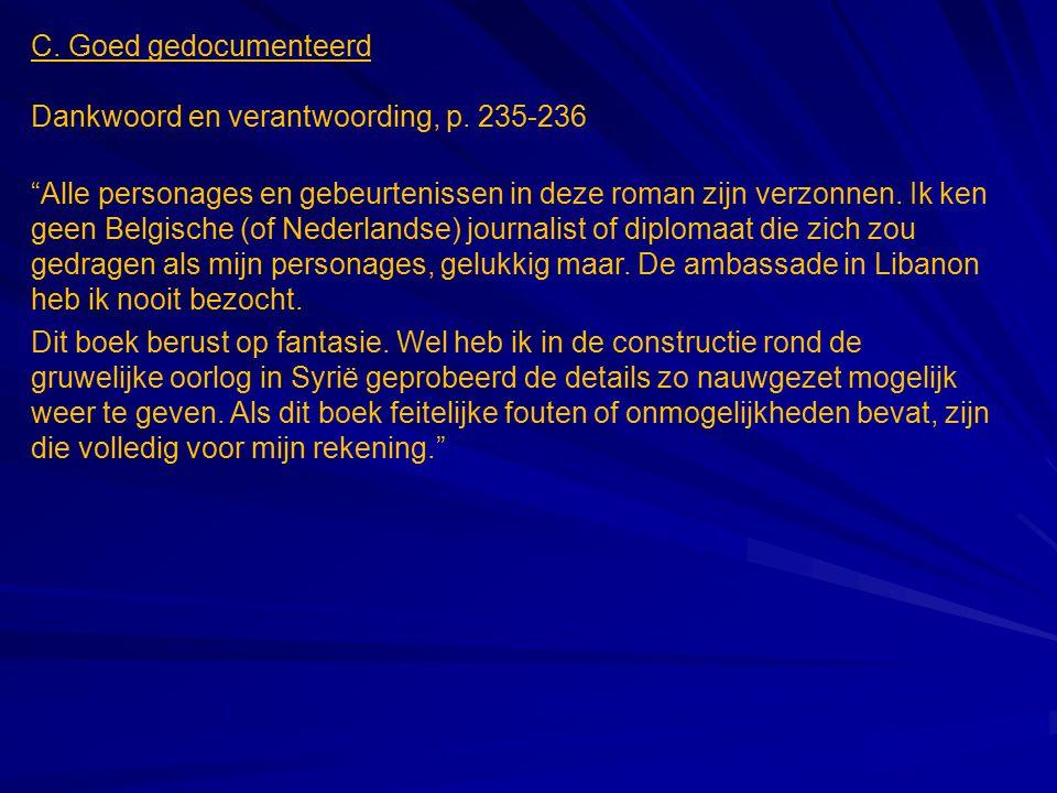 C.Goed gedocumenteerd Dankwoord en verantwoording, p.